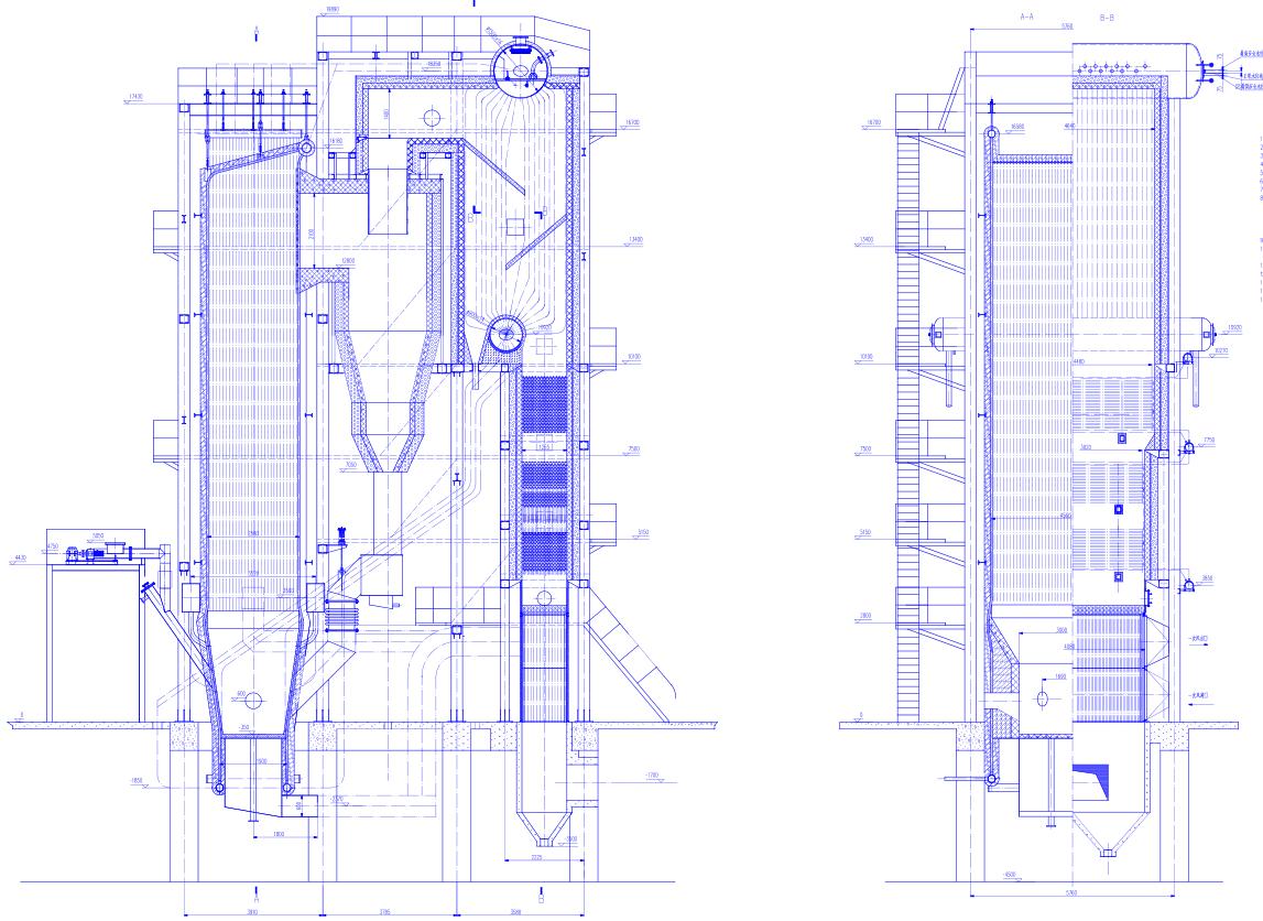 循环流化床锅炉细节演示